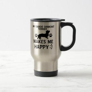 Dandie Dinmontテリア犬のデザイン トラベルマグ