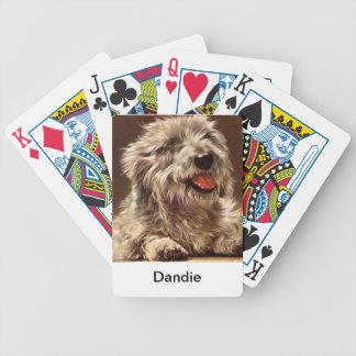 Dandie Dinmontテリア犬のトランプ バイスクルトランプ