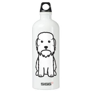 Dandie Dinmontテリア犬の漫画 ウォーターボトル