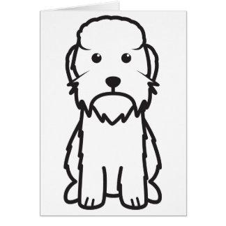 Dandie Dinmontテリア犬の漫画 カード