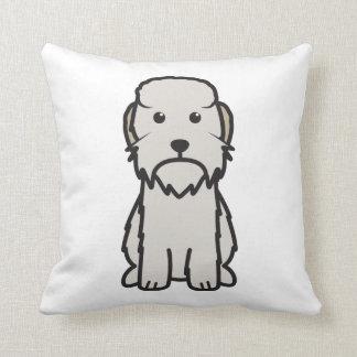 Dandie Dinmontテリア犬の漫画 クッション