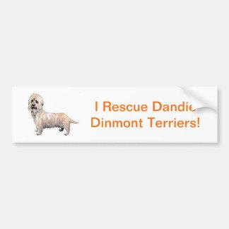 Dandie Dinmontテリア バンパーステッカー