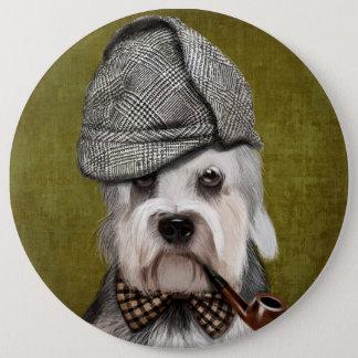 Dandie Dinmont Terrier氏 15.2cm 丸型バッジ