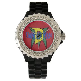 Dangermanの都市スーパーヒーローの元のロゴのデザイン 腕時計