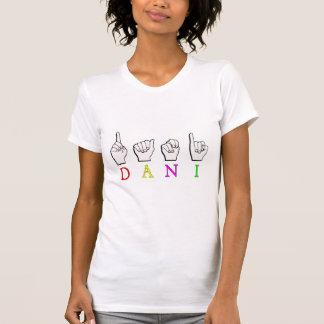 DANI FINGERSPELED一流ASLの印 Tシャツ