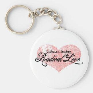 Danielleおよびジェニファーの根本的な愛Keychain キーホルダー