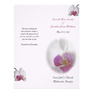 Danielleの結婚式プログラムのvert チラシ