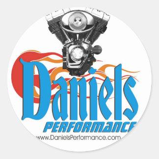 Danielsの性能のステッカー ラウンドシール