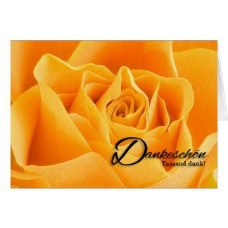 Dankeはドイツ語の黄色バラのブランク感謝していしています グリーティングカード