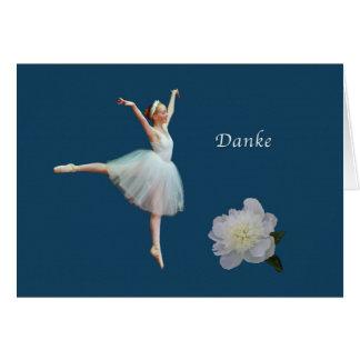 、Danke、ドイツ語、バレリーナありがとう グリーティングカード