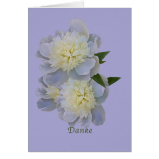 、Danke、ドイツ語、白いシャクヤクカードありがとう カード