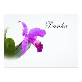 、Danke、ドイツ語、蘭カードありがとう カード