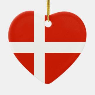 Dannebrog; デンマークの公式の旗 セラミックオーナメント