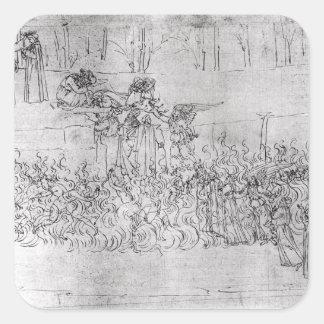 Dante著「神の喜劇」からの苦行、 スクエアシール