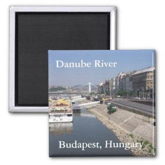 Danube川、ブダペスト、ハンガリー マグネット