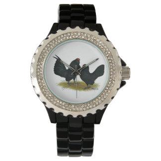 D'Anversの黒いチャボ 腕時計