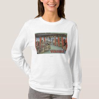 Danville、ヴァージニア-大きい手紙場面 Tシャツ
