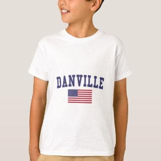 Danville VA米国の旗 Tシャツ
