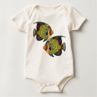 DaorgesのAngelfishの乳児 ベビーボディスーツ