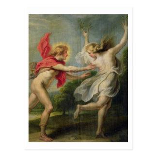 Daphneおよびアポロ(油) ポストカード