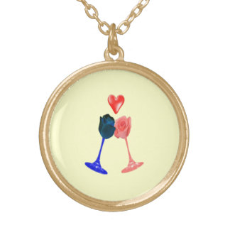Darcyおよびエリザベスのネックレス ゴールドプレートネックレス