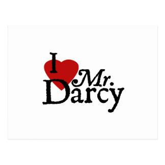 DarcyジェーンAusten I愛氏 ポストカード