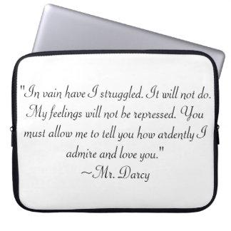 Darcy氏の引用文 ラップトップスリーブ