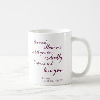 Darcy's Proposal -ジェーンAustenのプライドおよびPrej氏の コーヒーマグカップ