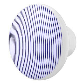 Dark Blue White Pinstripe セラミックノブ