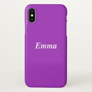 Dark Orchid Personalized iPhone X ケース