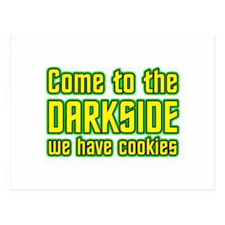 Darksideに来られて私達はクッキーを食べます ポストカード