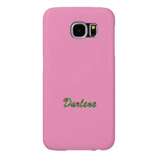 Darleneはピンクのスタイルの銀河系S6の箱をカスタマイズ Samsung Galaxy S6 ケース