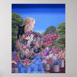 Darlene P. Coltrain著花の市場、 ポスター