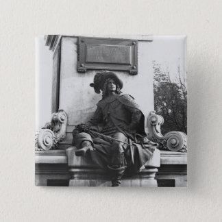 d'ArtagnanアレグサンダーデュマPereへの記念碑 5.1cm 正方形バッジ