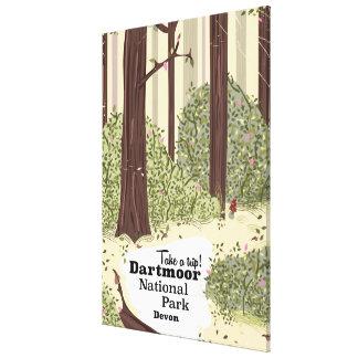 Dartmoorの国立公園、デボンのヴィンテージ旅行 キャンバスプリント