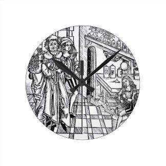 「Dasブーフder Cirugia」のパブからの薬剤師の店、 ラウンド壁時計