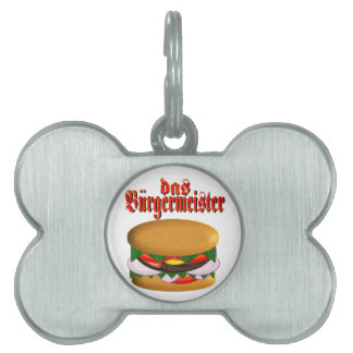 das Burgermeisterペット(犬)ラベル ペットネームタグ