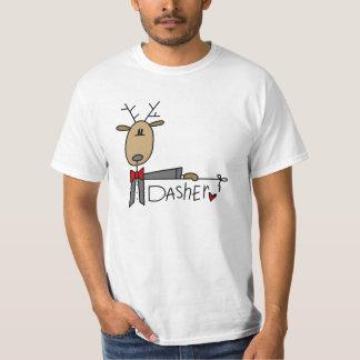 DasherのトナカイのクリスマスのTシャツおよびギフト Tシャツ