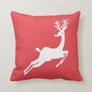 Dashing Reindeer Custom Color Christmas Holiday クッション