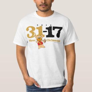 DatがスコアのTシャツに自慢して見せるニュー・オーリンズ Tシャツ