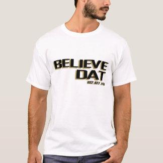 DATを信じて下さい Tシャツ