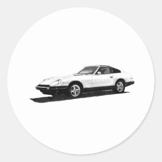 Datsunまたは日産280ZXのイラストレーション ラウンドシール
