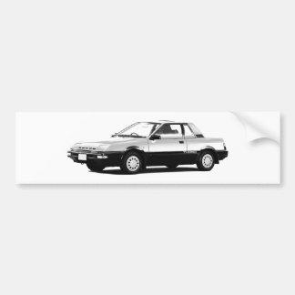 Datsun日産のパルサーEXAターボ1984年 バンパーステッカー