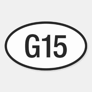 Datsun日産G15エンジンのステッカー 楕円形シール