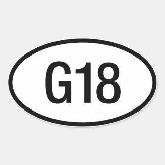 Datsun日産G18エンジンのステッカー 楕円形シール