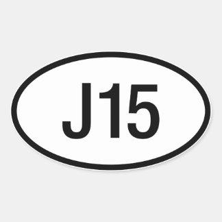 Datsun日産J15エンジンのステッカー 楕円形シール