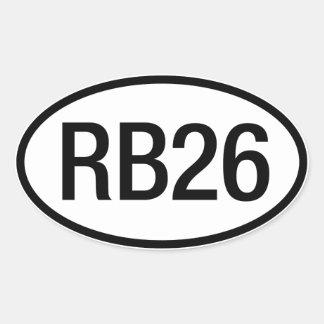 Datsun日産RB26エンジンのステッカー 楕円形シール
