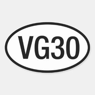 Datsun日産VG30エンジンのステッカー 楕円形シール