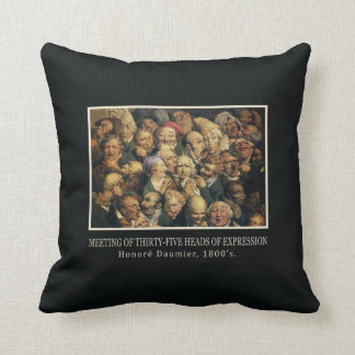 Daumierの表現のカスタムの装飾用クッション クッション