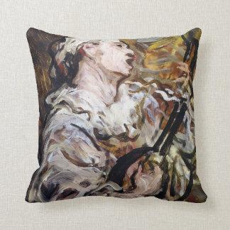 DaumierのPierrotのカスタムな芸術の装飾用クッション クッション